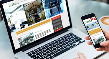 hotel website design development